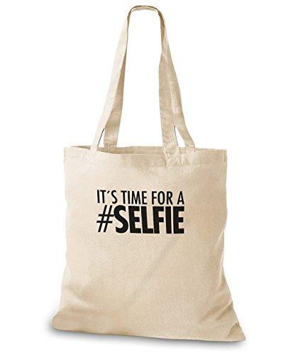 StyloBags Jutebeutel / Tasche It s Time for a #Selfie Natur