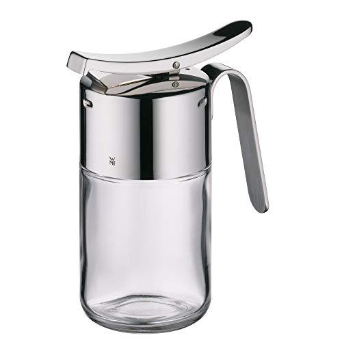 WMF Barista Sirup-/ Honigspender, 240ml, Glas, Cromargan Edelstahl poliert, spülmaschinengeignet