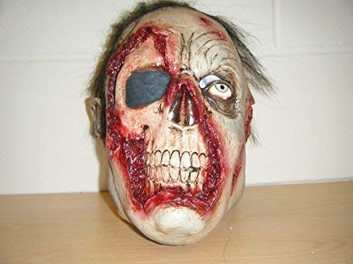 WRESTLING MASKS UK Zombie One Eye Skelett Monster Schädel Deluxe Halloween Kostüm Maske (Uk Kostüme Halloween Deluxe)