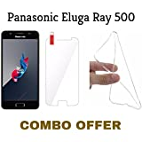 M.G.R.J Tempered Glass + Transparent Back Cover [Combo Pack] for Panasonic Eluga Ray 500