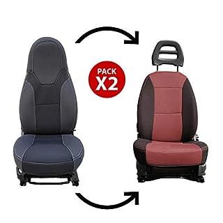 KFoam.es Pack 2 Dubai Premium Sitzbezüge für Reisemobile und Vans Camper FIAT Ducato, Peugeot Boxer und Citroën Jumper (+2006)