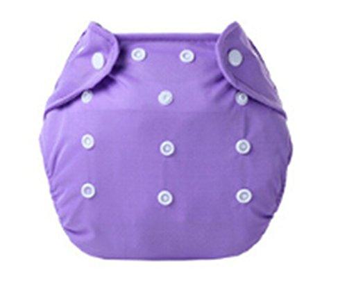 Madlst Babytuchwindeln Einstellbar waschbare und wiederverwendbare Taschenwindeln,Lila