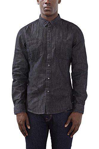 edc by Esprit 116cc2f010, Chemise Casual Homme Noir (black Medium Wash 912)
