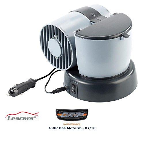 Lescars Mini Klimaanlage: Mobiler Mini-Luftkühler 12V/230V, für Auto, Camping, zu Hause u.v.m. (Klimaanlage fürs Auto über Zigarettenanzünder)