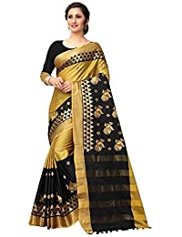 cb2002ceaed NILGIRI CREATION Sarees Women s Cotton Silk Embroidered Saree with blouse  piece