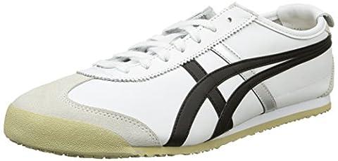 Asics Mexico 66, Chaussons Sneaker mixte adulte, Blanc (white/black 0190), 38 EU