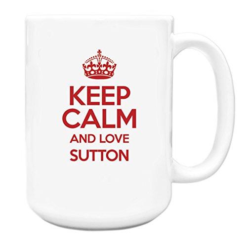 RED Keep Calm and Love Sutton Big 15 ml Mug TXT 0638-Stivaletti alla caviglia