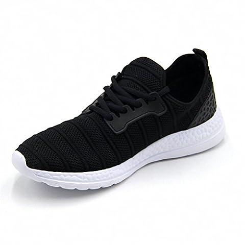Hommes Femmes Été Chaussures de course à pied en plein air Mode Mesh Sneakers Noir