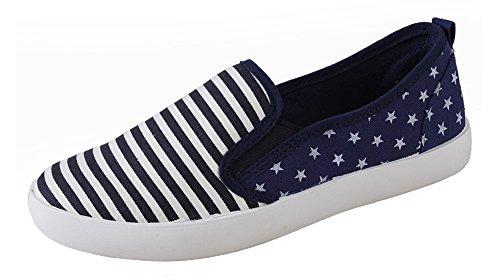 Aisun Blu Donne Don A Mezzi Cuneo Comode Sneakers PPwrz