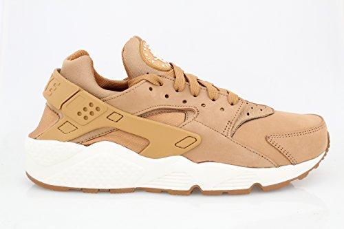 Nike Air Huarache Herren-Turnschuhe, - Flax / Sail - Gum Medium Brown - Größe: 42.5 EU (Huarache Nike-turnschuhe)