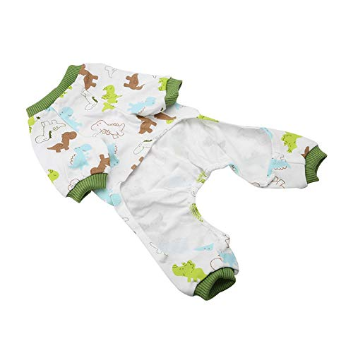 thes Puppy Cute Pyjamas Hunde Baumwollspielanzug Katzen Overalls Cosy Apparel Dog Shirt Kleine Hunde- Kostüme Korsett(M) ()