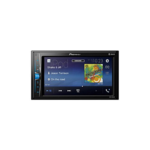 Pioneer MVH-S100UB 1/2 DIN-Autoradio mit AUX-In und USB, RDS Tuner, Wiedergabe von MP3 WMA WAV FLAC über MOS-FET 4 x 50W schwarz
