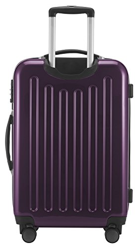 HAUPTSTADTKOFFER - Alex - NEU 4 Doppel-Rollen Hartschalen-Koffer Koffer Trolley Rollkoffer Reisekoffer, TSA, 65 cm, 74 Liter, Aubergine - 4