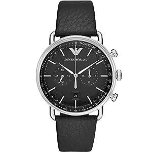 Emporio Armani Reloj Cronógrafo para Hombre de Cuarzo con Correa en Cuero AR11143