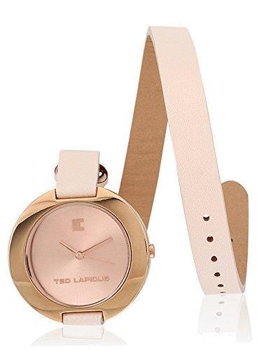 Ted Lapidus A0300URNR - Reloj de pulsera mujer, piel, color rosa