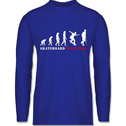 Evolution - Skateboard Evolution - Longsleeve / langärmeliges T-Shirt für Herren Royalblau