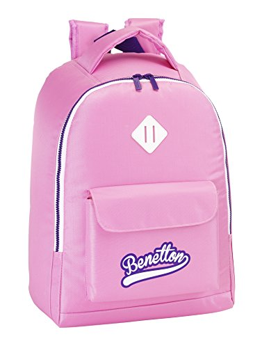 Benetton - Mochila Adaptable, 32 x 43 cm, Color Rosa (SAFTA 611551704)