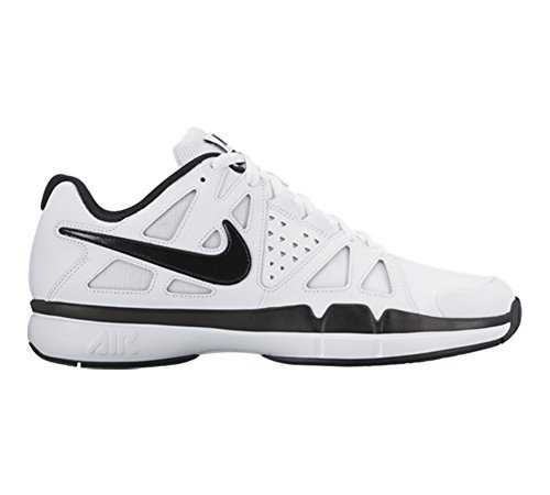 Nike Herren Air Vapor Advantage Leather Tennisschuhe, Blanco (White / Black-Dark Grey), 42 EU