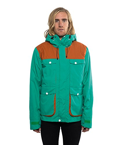 Colour Wear–Blow Jacket giacca da snowboard da uomo Kräftiges Grün