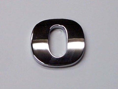 Chrom Look Zahl 0Auto Aufkleber/Badge–geht mit Selbstklebende Rückseite