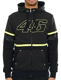 Sweat zippé à capuche Valentino Rossi 46 Two Tone Dark Gris