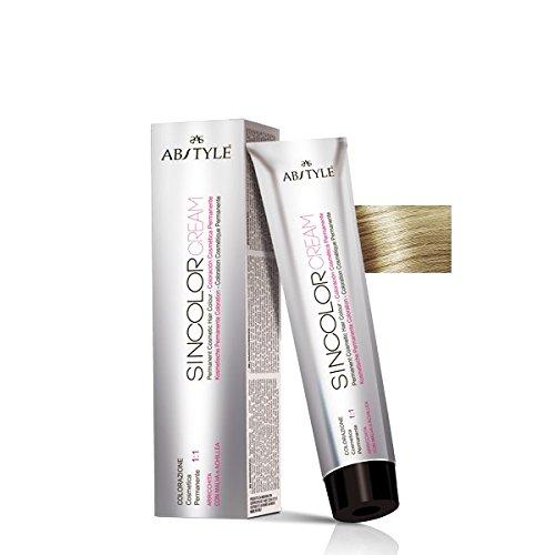 AB Style | sincolor Cream Couleur permanent professionnelle pour cheveux en crème à oxydation, blond extra clair 10.0 (100ml)