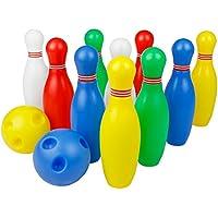12 Stück Bowlingkugel Boule-Spiele Kegelspiel pädagogische interaktive Spielzeug für Kinder ab 3 Jahren