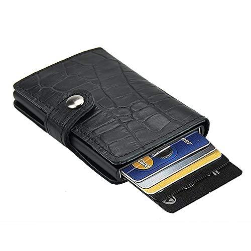 Caracteristicas: -Peso: 100 g -Tamaño: 9.9(L) * 7.1(W) * 1.5(H) cm -Tejido: Premium Cuero + aluminio premium -Paquete: 1 * Dlife Tarjetero RFID Cartera Crédito Especificaciones: -Diseño especial: Combinación de premium cuero + aluminio, la billetera ...