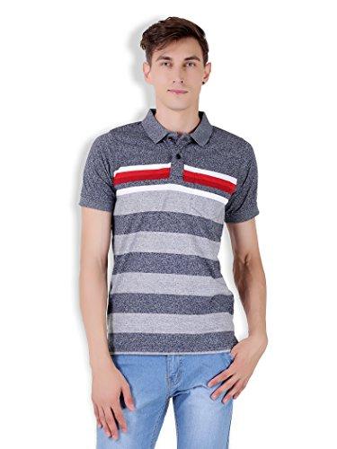 Tapasya Slub Blue Polo T-Shirt