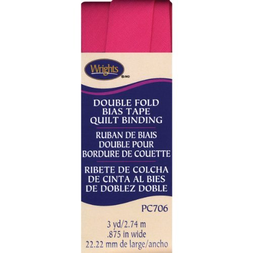 Wrights Double Fold Quilt Binding, 7/8 by 3-Yard, Berry Sorbet by Wright Products -