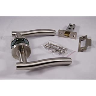Stainless Wave Handle Pack (Internal Latch Set) Satin Stainless Steel
