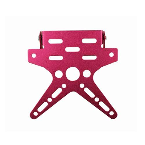D Aluminiumlegierung Universal Motorrad Nummernschildhalter Halterung Angepasst Registrierungsnummer Platte Abdeckung Rosa ()
