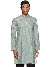 Manyavar Men's Knee-Long Blended Kurta (ML11813)