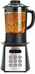 Andrew James Premium Black Soup Maker Blender Smoothie Maker And Ice Crusher With Eight Programmes And 1.75L Glass Jug