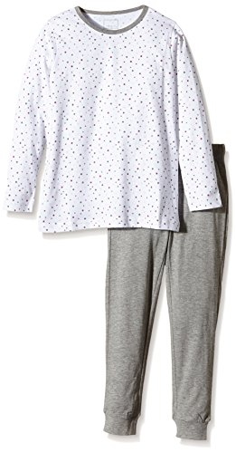 NAME IT Baby-Mädchen Zweiteiliger Schlafanzug NITNIGHTSET K G NOOS, Gepunktet, Gr. 122, Mehrfarbig (Bright White)