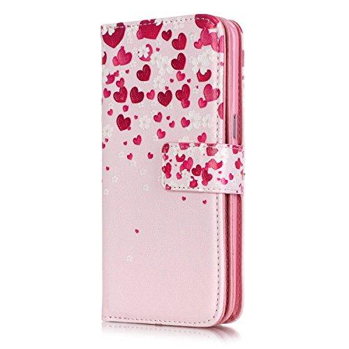 Hülle für Samsung Galaxy S7 Edge Schmetterling,TOCASO Glitter Strass Bling Ledertasche Muster Weich PU Schutzhülle für Samsung Galaxy S7 Edge Flip Cover Wallet Case Tasche Handyhülle mit Lanyard Strap #3#