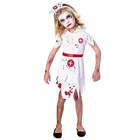 Zombie Halloween Costumes Filles - Déguisement Amscan Enfant Fille Infirmière Zombie