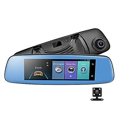 Auto-Kamera/Recorder E06DVR, für Rückspiegel, Armaturenbrett, Videoaufzeichnung, 19,9cm, 4 G, Android 5.1,WLAN, Bluetooth, Rückspiegelkamera, mit SIM-Card-Slot, G-Sensor, Loop-Aufnahme