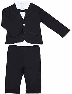 YiZYiF 3 Stück Baby Kinder Jungen Kleidung Set Party Taufe Hochzeit Smoking Anzüge & Sakkos Mantel Coat + Shirt...