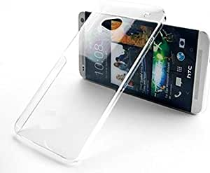 HTC ONE M7 Crystal Clear Transparent Hard Back Case Cover