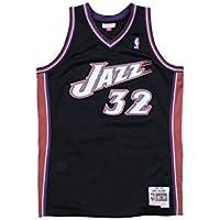 Mitchell & Ness Karl Malone – Utah Jazz Swingman Jersey Camiseta – Negro – NBA Baloncesto