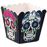 Cajitas Calaveras Mexicanas Cuadradas (12) Dia de los Muertos