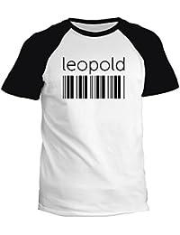Idakoos Leopold barcode - Prénoms Masculins - T-Shirt Raglan