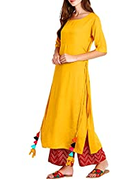 Triumphin Mustard Yellow Kurta For Women Latest Design Latest Design Women Embroidered Dailywear Partywear Kurti...
