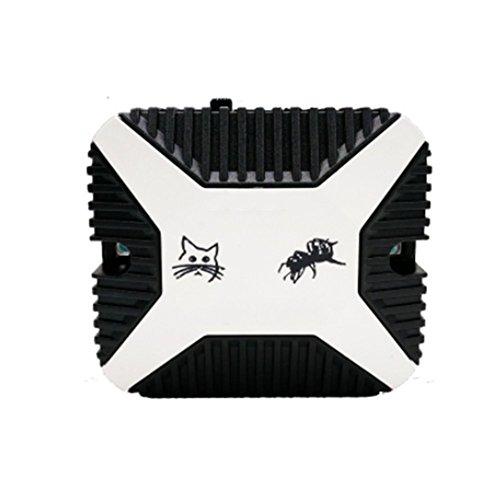 OOFAY Ultraschall-Maus-Repeller Auto-Draht-Schutz Ultraschall-Ultraschall-Elektronische Insektenvernichter Kontrolle von Nagetieren Weg von Autos Garage,Black