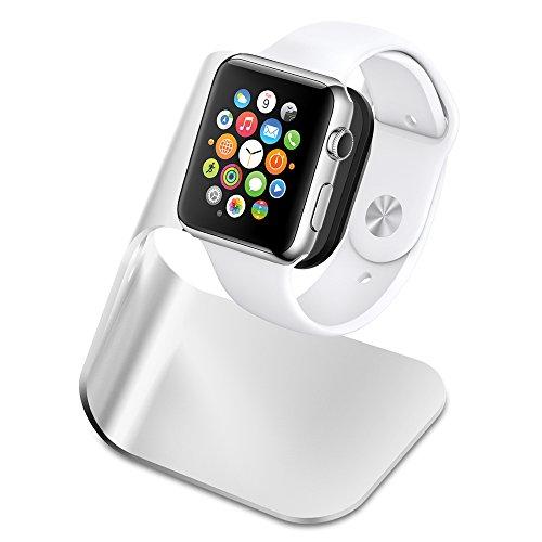 Base Para Apple Watch, Spigen [Base de carga] Apple Seguir soporte de carga [S330] acumulación de aluminio de la horquilla sostiene Apple Seguir - ángulo de visión cómodo para Apple Watch series 4/3/2/1, Apple Watch 4 (2018) Apple Watch 3 (2017) Apple Watch 2 (2016) Apple Watch (2015), 44mm 42mm 40mm 38mm - S330 (SGP11555)
