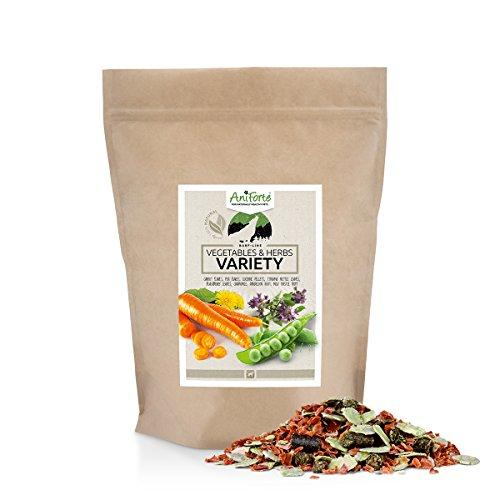 Aniforte barf verdure e erbe 1kg dog food mix: senza glutine cibo per cani con cane vitamine e minerali