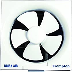 Crompton Brisk Air 250 mm Exhaust Fan - White, Online at low Price in India