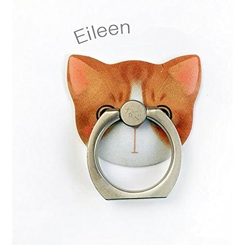 KRY a forma di gatto, in metallo, con impugnatura girevole LetsBuyGold-Anello di supporto, adatto a tutti i telefoni con supporto per