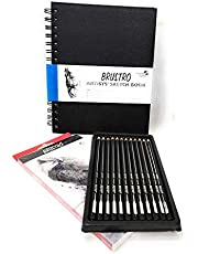 BRUSTRO Artists' FINEART Graphite Pencil Set of 12 Parent Child